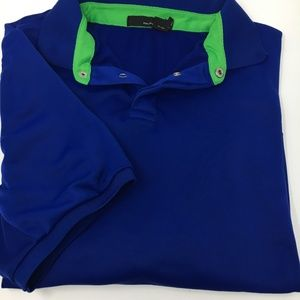 Ralph Lauren RLX Large blue airflow golf shirt